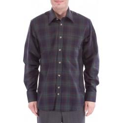 Rutete skjorte med ull