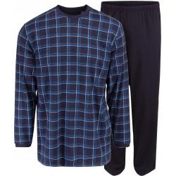 Ambassador jersey pyjamas - Blå rutete