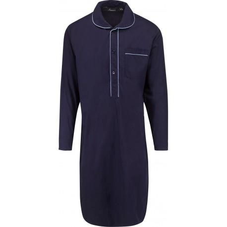 mørk blå nattskjorte