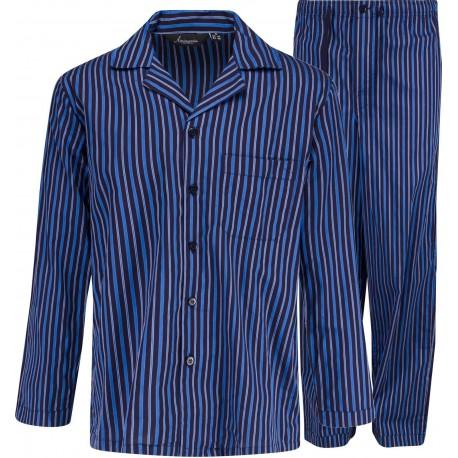 Blå stripete pyjamasen