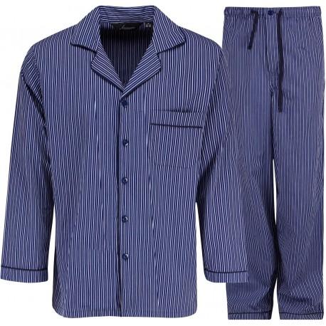 Ambassador pyjamas - Blå / Hvit