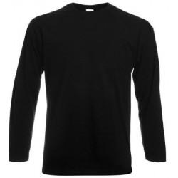 Svart langermet t-skjorte