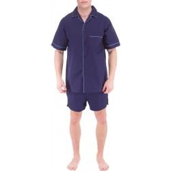 Marineblå menns pyjamas