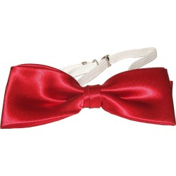 Rød tversoversløyfe med elastisk