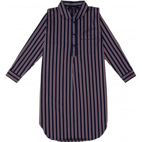 75a1c1f5 Natskjorte Ambassador, herrenatskjorte med brystlomme i 100% bomuld med  brystlomme , blå, rød